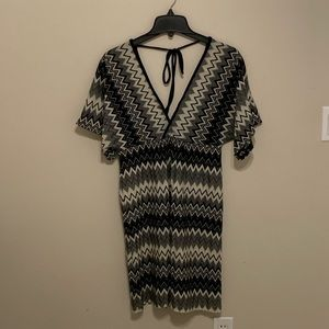 Womens Chevron Pattern Dress L/XL